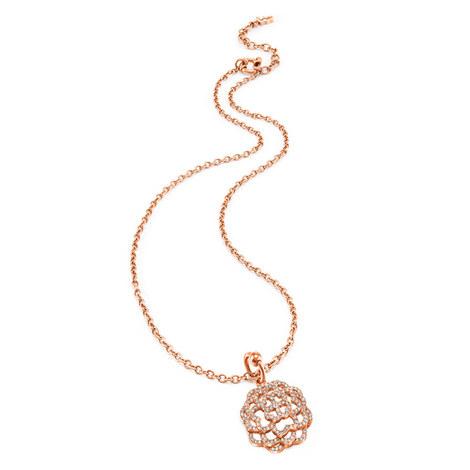 Santorini Flower Crystal Necklace, ${color}