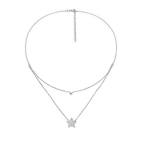 Fashionably Star Double Necklace, ${color}