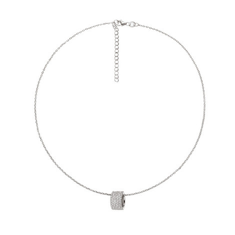 Fashionably Hoop Necklace, ${color}