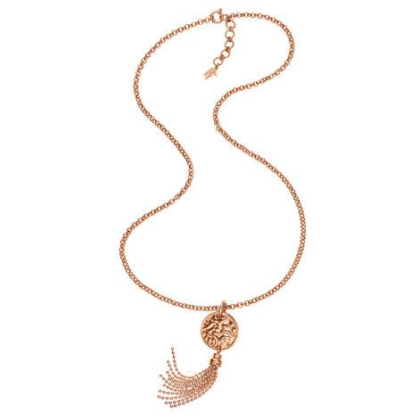 Coin Vintage Long Necklace, ${color}