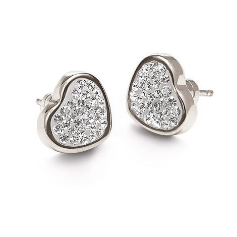 Bling Chic Heart Studs, ${color}