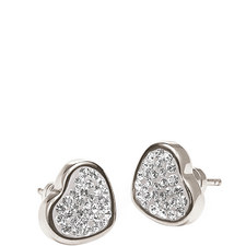 Bling Chic Heart Studs
