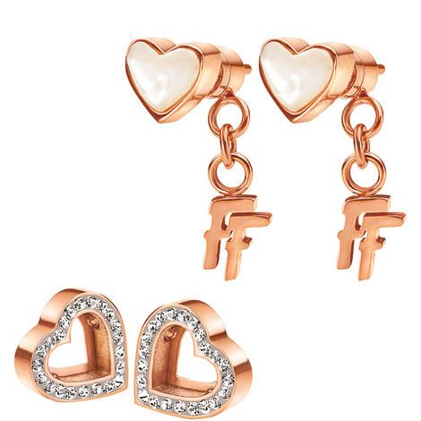 Playful Hearts Loveheart Stud Earrings, ${color}