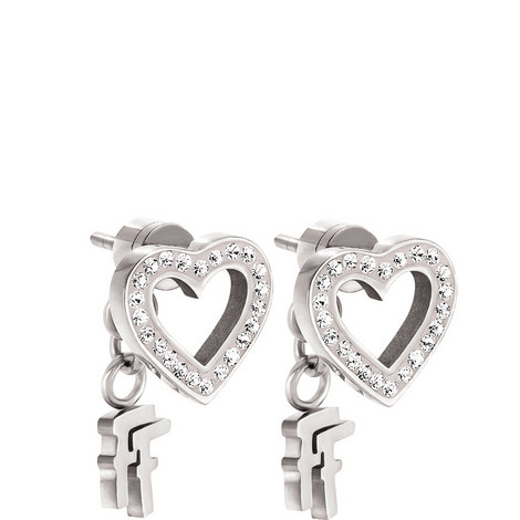 Playful Hearts Loveheart Stud Earrings, ${color}
