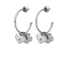 Heart4Heart Sweetheart Hoop Earrings