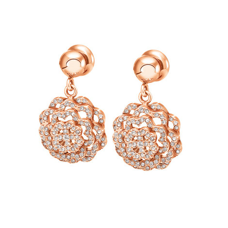 Santorini Flower Crystal Earrings, ${color}