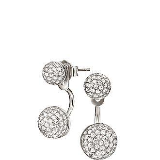 Fashionably Oval Drop Earrings