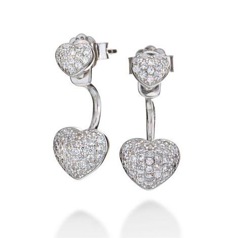 Fashionably Love Heart Earrings, ${color}