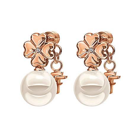 Grace Pearl Flower Earrings, ${color}
