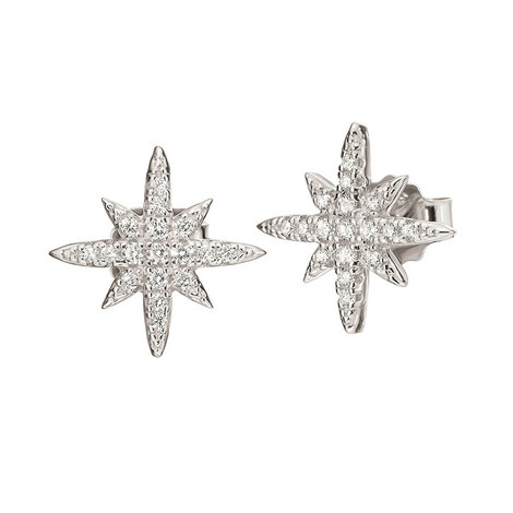 Fashionably Snowflake Studs, ${color}