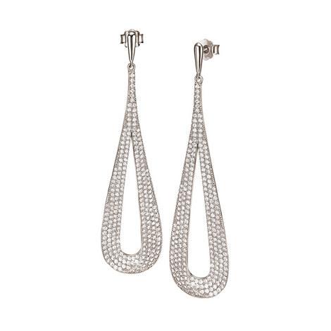 Fashionably Long Drop Earrings, ${color}