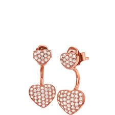 Fashionably Heart Drop Earrings