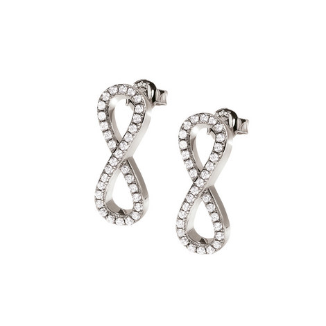 Fashionably Silver Infinity Earrings, ${color}