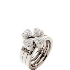 Heart4Heart Crystal Stacking Rings