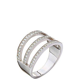 Fashionably Three Row Ring