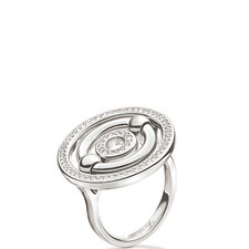 Bonds Concentric Crystal Ring