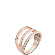 Fashionably 3-Row Ring