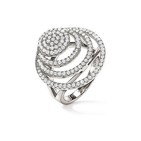 Cyclos Rhodium Plated Ring, ${color}