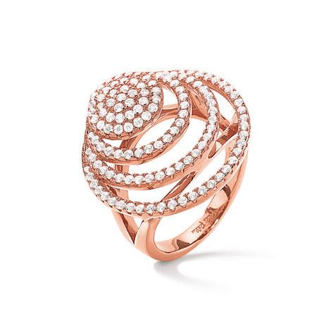 Cyclos Concentric Crystal Ring, ${color}