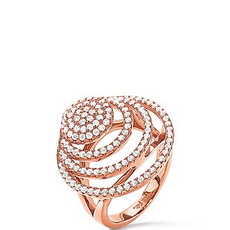 Cyclos Concentric Crystal Ring