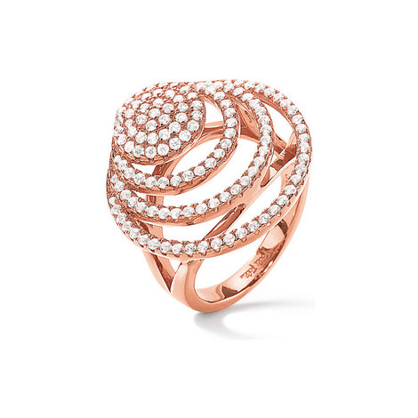 Cyclos Rose Gold Plated Ring, ${color}