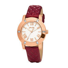 Donatella Crystal Leather Watch