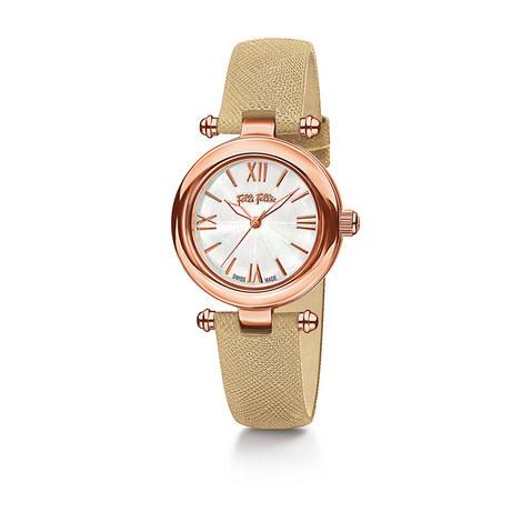 Aegean Breeze Leather Watch, ${color}
