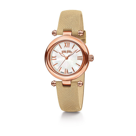 Aegean Breeze Leather Watch, ${color}