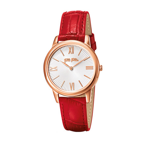 Match Point Dainty Leather Watch, ${color}