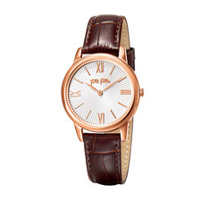 Match Point Dainty Leather Watch