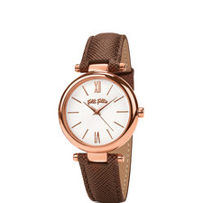 Cyclos Saffiano Leather Watch