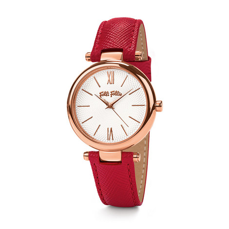 Cyclos Saffiano Leather Watch, ${color}