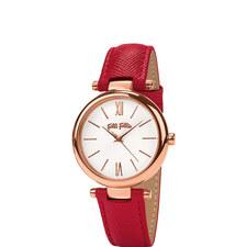 Cyclos Saffiano Leather Watch