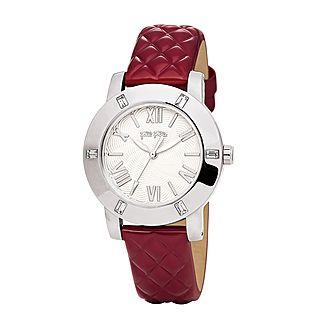Donatella Crystal Leather Watch
