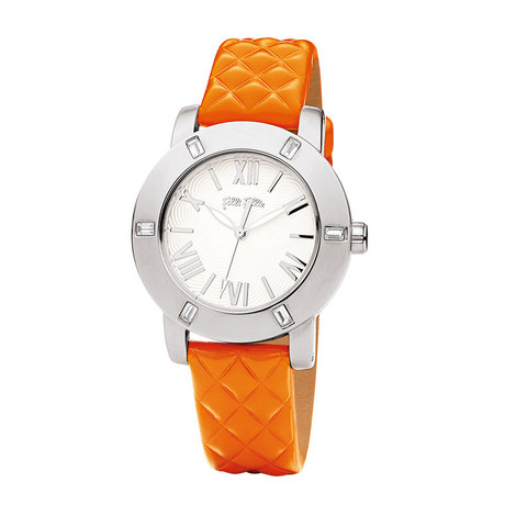 Donatella Crystal Leather Watch, ${color}