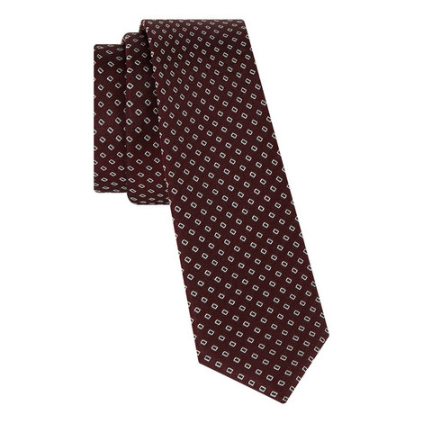 Rectangle Embroidered Tie, ${color}
