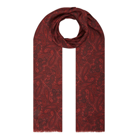 Paisley Print Scarf, ${color}