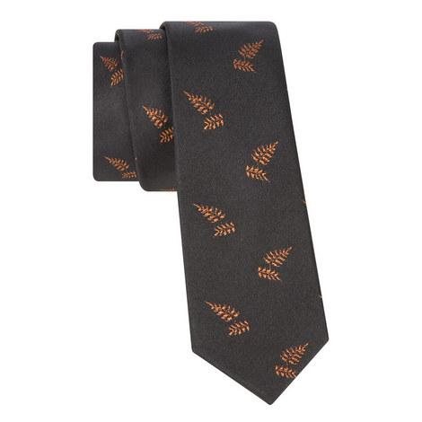Jacquard Ochre Leaf Tie, ${color}