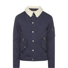 Faux Sheepskin Collar Jacket