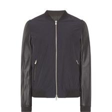 Bi-Material Teddy Jacket