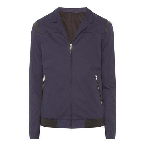 Leather Detail Jacket, ${color}