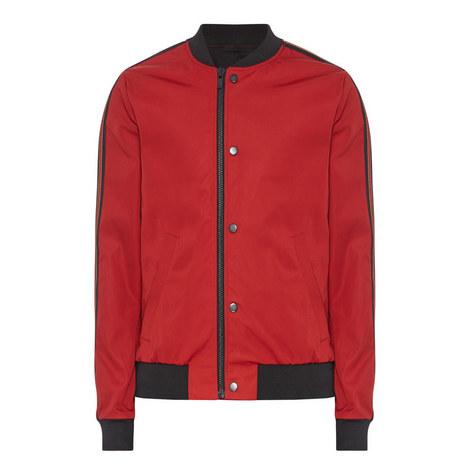 Tri-Colour Stripe Teddy Jacket, ${color}
