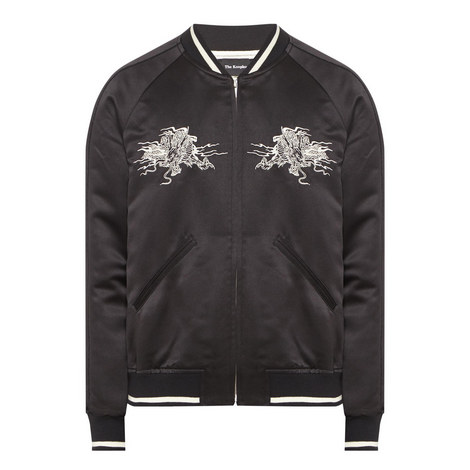 Dragon Embroidered Bomber Jacket, ${color}
