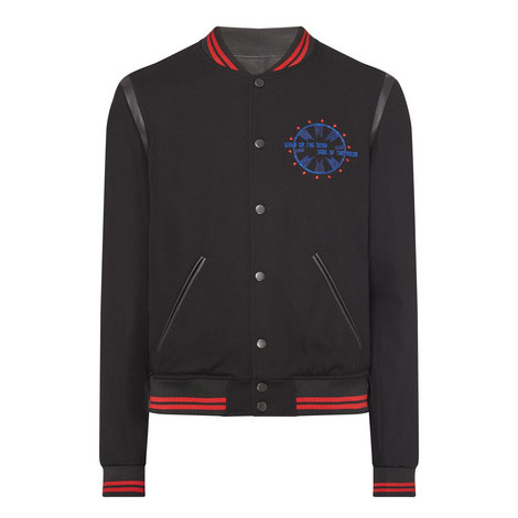 Embroidered Teddy Jacket, ${color}