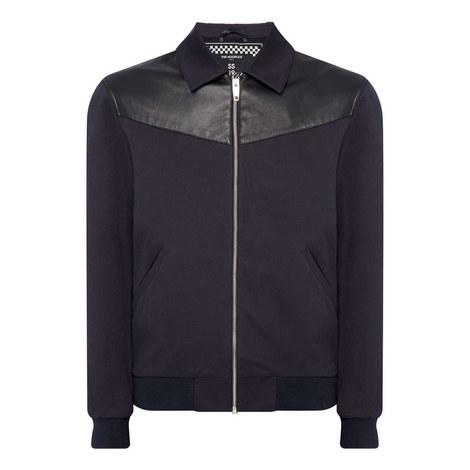 Leather Yoke Jacket, ${color}