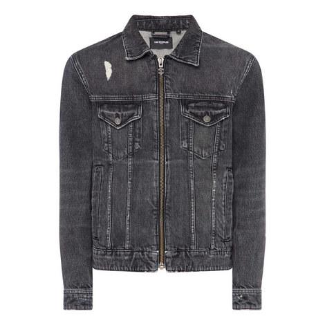 Zip Denim Jacket, ${color}