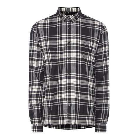 Fitted Check Shirt, ${color}