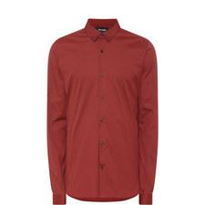 Stretch-Cotton Poplin Shirt
