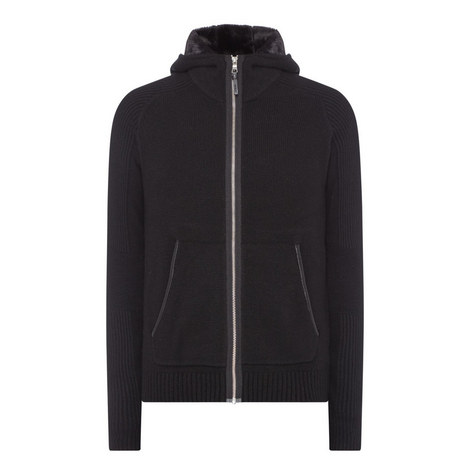 Zip-Through Hooded Sweater, ${color}