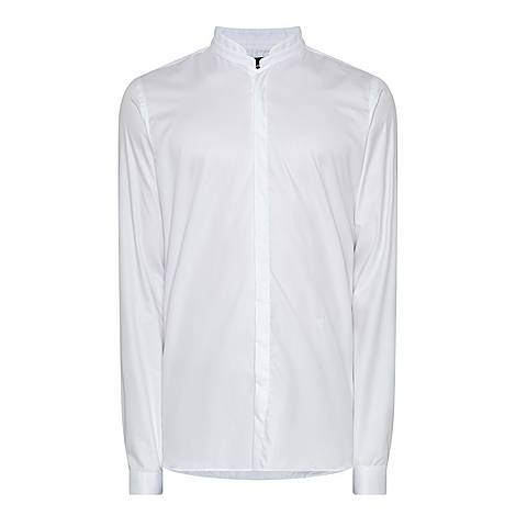 Stand-Up Collar Shirt, ${color}